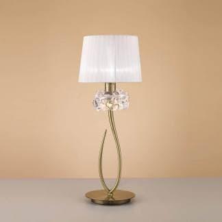 Lámpara de mesa loewe cuero Mantra