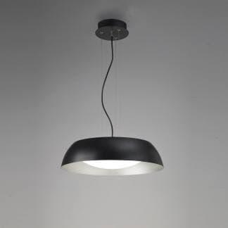 Lámpara de techo negra 45cm argenta Mantra