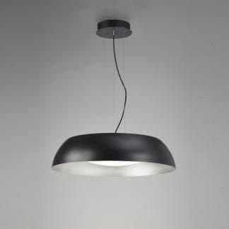 Lámpara de suspensión minimalista negra 60cm argenta Mantra
