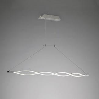 Lámpara de techo hondas sahara plata cromo Mantra