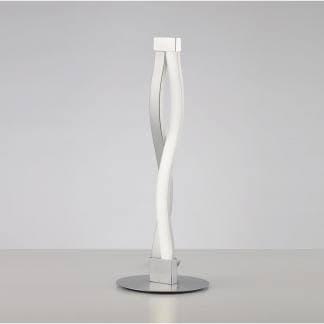 Lámpara de mesa hondas sahara plata cromo Mantra