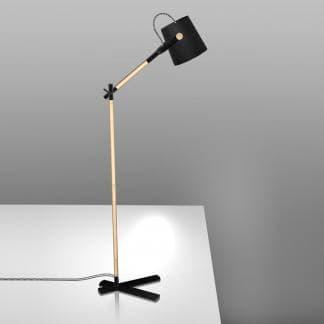 Lámpara de pie nórdica negra Mantra