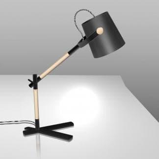 Lámpara de mesa nórdica negra Mantra