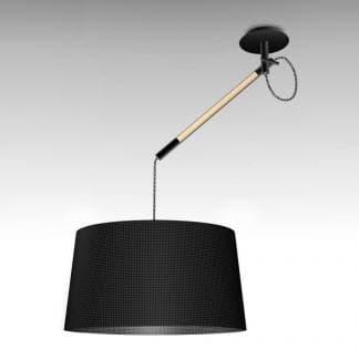 Lámpara de techo nórdica negra madera Mantra
