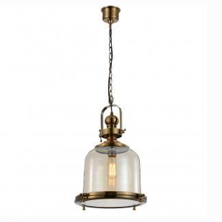 Lámpara de techo vintage bronce y cristal Mantra 38cm