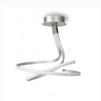 Lámpara de techo nur plata cromo Mantra led 50w