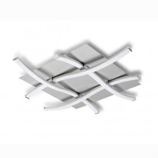 Plafón de techo nur plata cromo Mantra led 34w