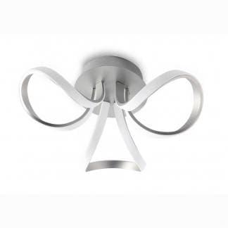 Lámpara de techo knot led plata cromo Mantra