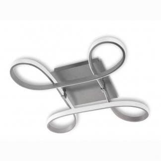 Plafón de techo knot led plata cromo Mantra