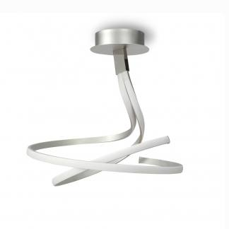 Lámpara de techo nur plata cromo Mantra regulable 50w