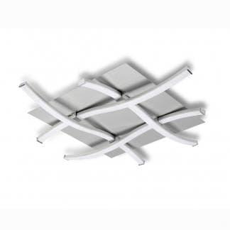 Plafón de techo nur plata cromo Mantra regulable