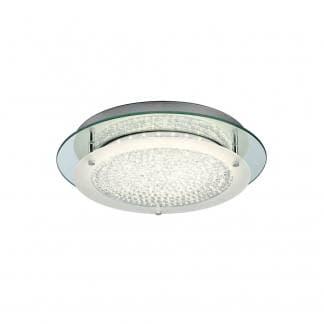 Plafón de techo redondo cristal led mirror Mantra 18w