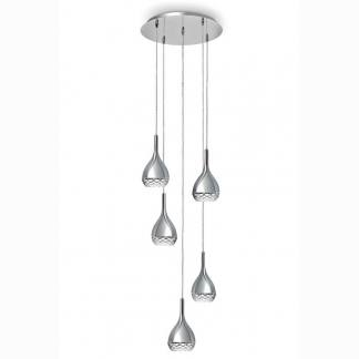 Lámpara de techo khalifa cromo Mantra cinco luces