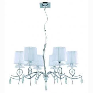 Lámpara de techo louise Mantra seis luces