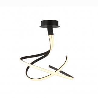 Lámpara de techo nur forja Mantra negra 50w