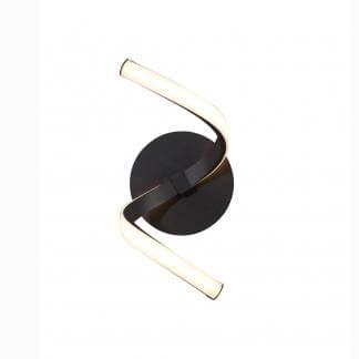 Aplique de pared nur forja Mantra negro 10w