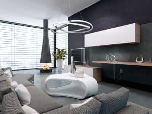 Lámpara de techo infinity plata cromo Mantra 71cm decoración