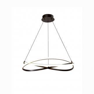 Lámpara de techo minimalista acabado hierro infinity forja Mantra 51m