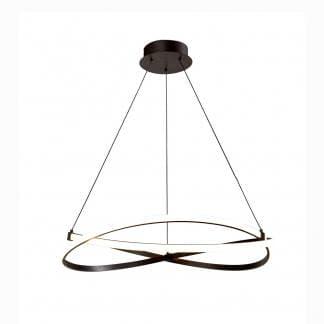 Lámpara de techo moderna acabado hierro infinity forja Mantra 71cm