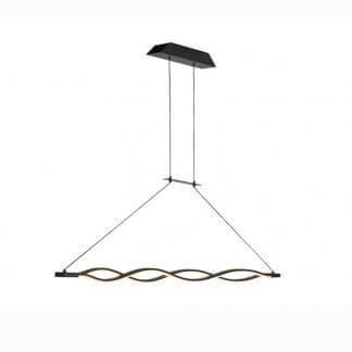Lámpara de techo rizos hierro sahara forja Mantra