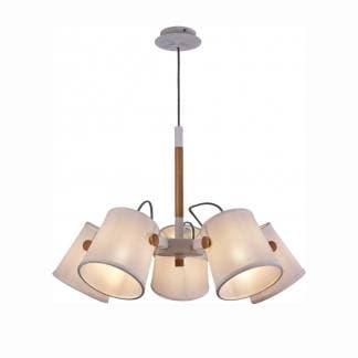 Lámpara de techo nórdica blanca mantra cinco luces