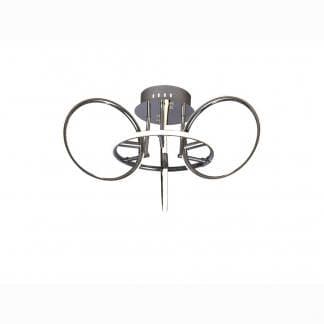 Lámpara de techo estilo moderno aros Mantra 46w