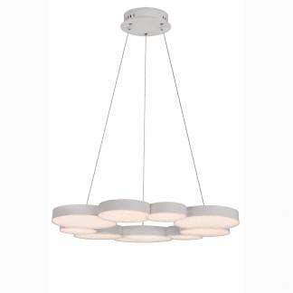 Lámpara de techo lunas Mantra 76w control remoto