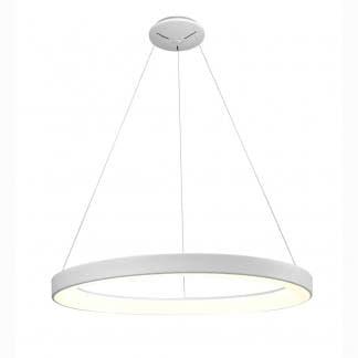 Lámpara de techo circular blanca niseko regulable mantra 90cm