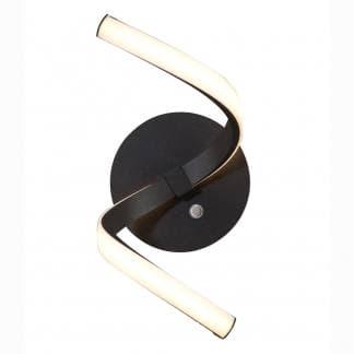 Aplique de pared nur forja Mantra negro con interruptor