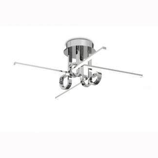 Lámpara de techo cinto cromo Mantra 28w