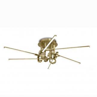 Lámpara de techo cinto cuero satinado Mantra 42w