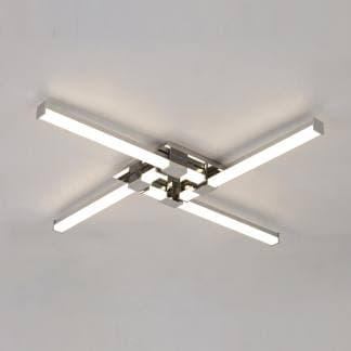 Lámpara de techo plafón cinto cromo Mantra 24w