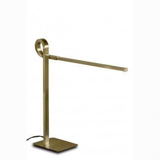 Lámpara de mesa estilo moderno cinto cuero satinado Mantra