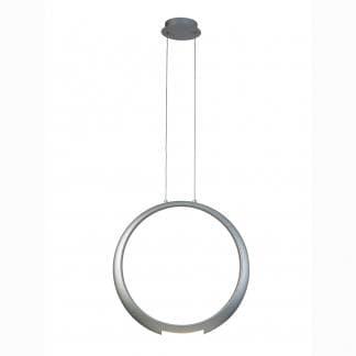 Lámpara de techo haro plateado ring Mantra