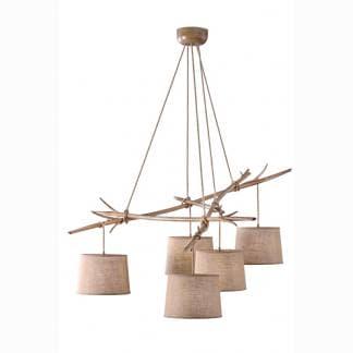 Lámpara de techo ramas de arbol sabina Mantra cinco luces