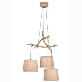 Lámpara de techo ramas de árbol sabina Mantra tres luces
