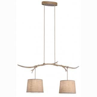 Lámpara de techo ramas de árbol sabina Mantra dos luces