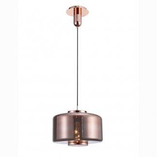Lámpara de techo cristal cobre jarras Mantra grande