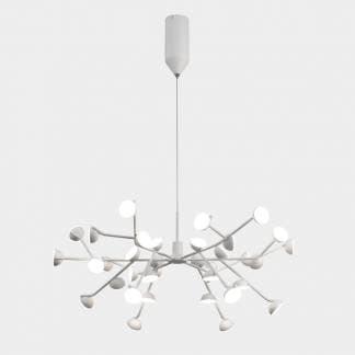 Lámpara de techo minimalista blanca adn Mantra 100w