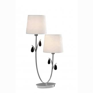 Lámpara de mesa andrea cromo Mantra dos luces