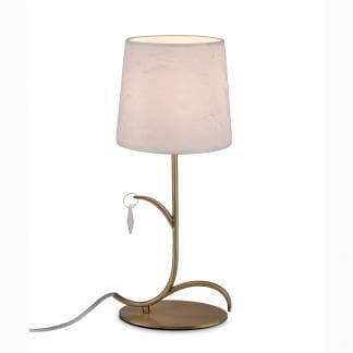 Lámpara de mesa andrea cuero satinado Mantra