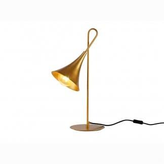 Lámpara de mesa trompeta jazz pintura dorada Mantra
