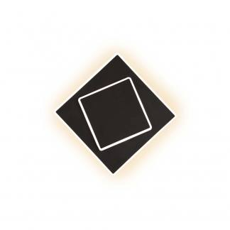 Aplique de pared negro cuadrado dakia Mantra 18cm