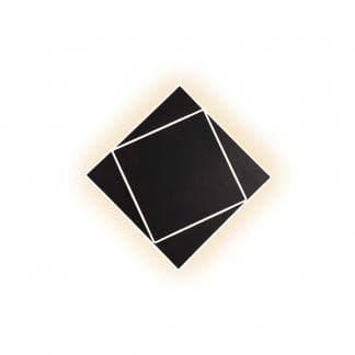 Aplique de pared negro cuadrado dakla Mantra 28cm