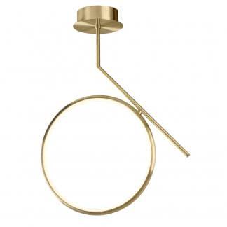 Lámparara de techo art deco olimpia oro satinado Mantra 25w