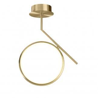 Lámpara de techo art deco olimpia oro satinado Mantra 20w