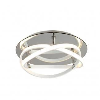 Lámpara de techo plafón blanco infinity Mantra