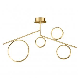 Lámpara de techo art deco olimpia oro satinado Mantra led 42w