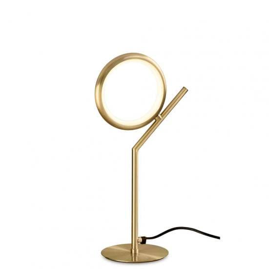 Lámpara de mesa art deco olimpia oro satinado Mantra