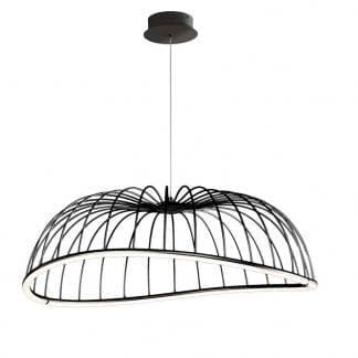 Lámpara de techo minimalista negra celeste Mantra grande